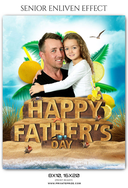Sand - Fathers Day Photography Template - Photography Photoshop Template