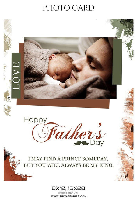 Father's Day Photocard - Photography Photoshop Template