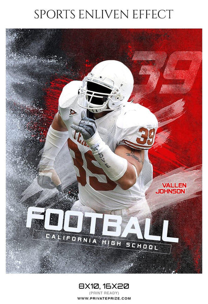 Vallen Johnson - Football Sports Enliven Effect Photography Template