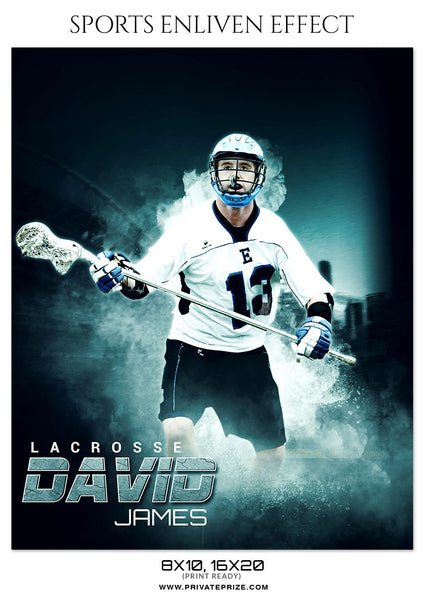 DAVID JAMES LACROSSE - SPORTS ENLIVEN EFFECT - Photography Photoshop Template
