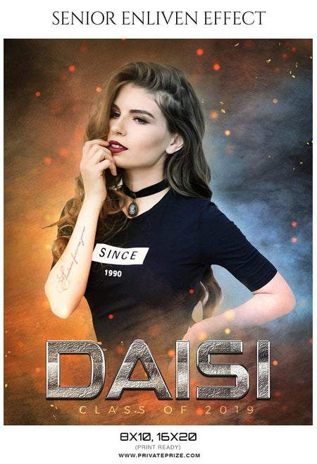 Daisi - Senior Enliven Effect Photography Template - Photography Photoshop Template