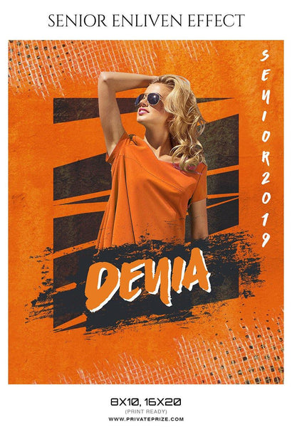 Denia -Senior Enliven Effect Photography Template