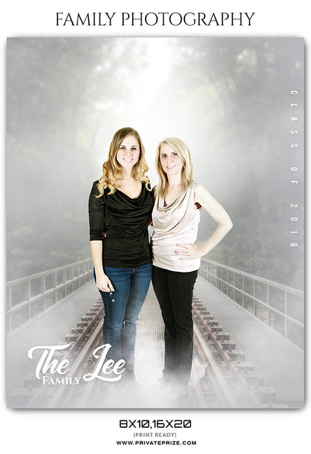 The Lee Family - Family Photography Template - Photography Photoshop Template