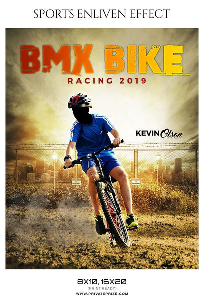 Kevin Olson - Bmx Bike Sports Enliven Effect Photography Templates