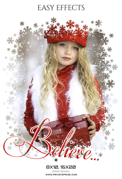 Believe - Christmas Easy Effects - Photography Photoshop Template