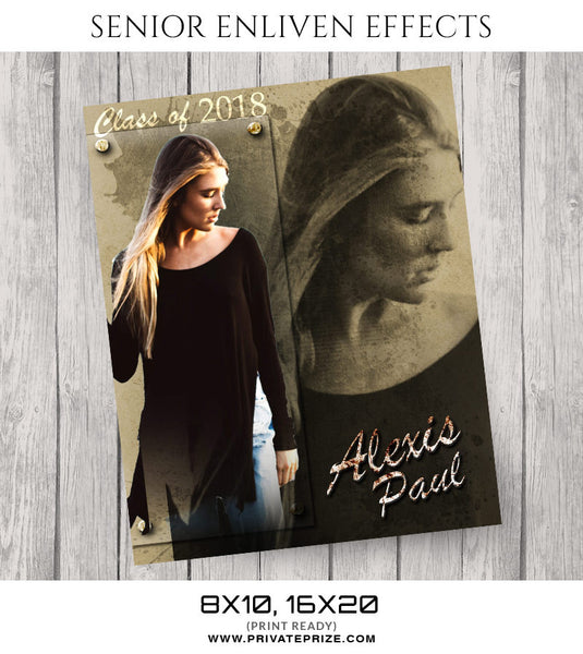 ALEXIS PAUL - SENIOR ENLIVEN EFFECTS - Photography Photoshop Template