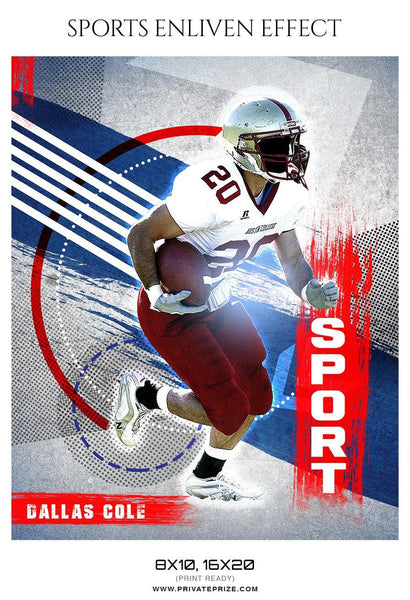 Dallas Cole - Football Sports Enliven Effect Photography Template