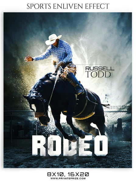 RUSSELL TODD- RODEO - SPORTS ENLIVEN EFFECT - Photography Photoshop Template