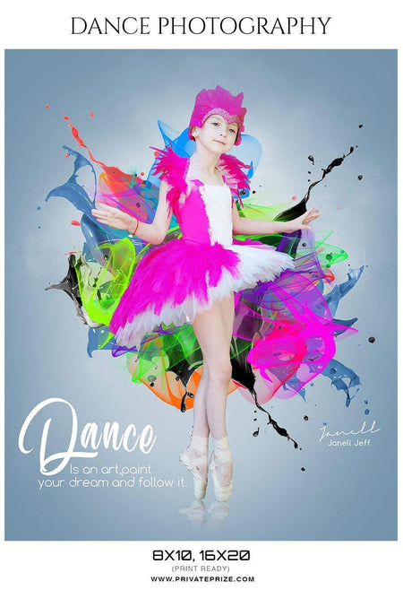 Janell Jeff - Dance Photography Templates - Photography Photoshop Template