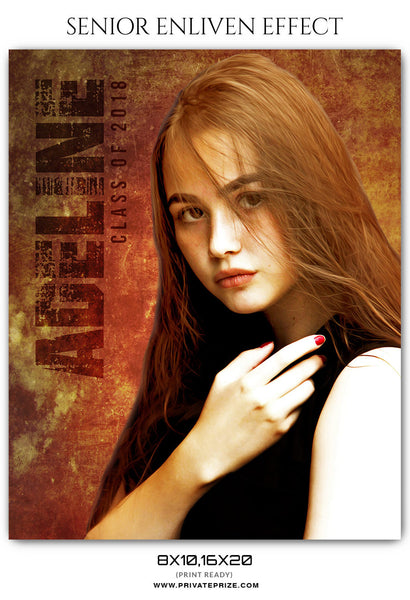 ADELINE - SENIOR ENLIVEN EFFECT - Photography Photoshop Template