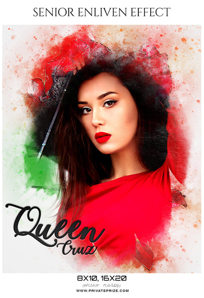 Queen Cruz - Senior Enliven Effect Photography Template - Photography Photoshop Template
