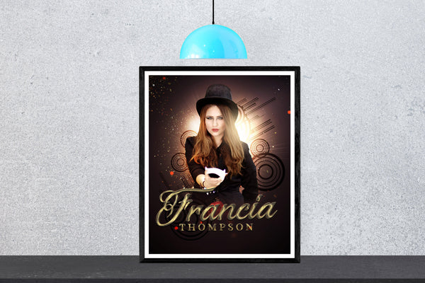 Francia Thompson - Senior Enliven Effect Photography Template - Photography Photoshop Template