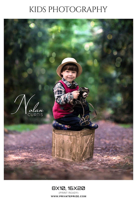 Nolan Curtis - Kids Photography Photoshop Templates - Photography Photoshop Template