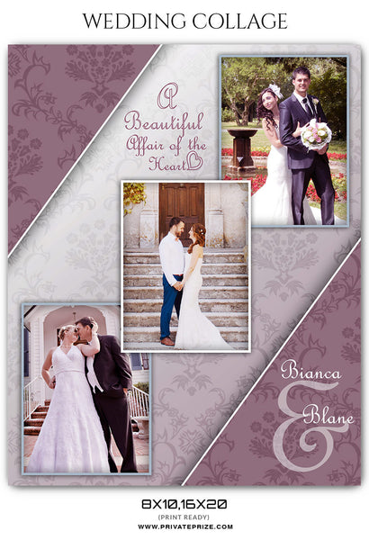 BIANCA AND BLANE - WEDDING COLLAGE - Photography Photoshop Template