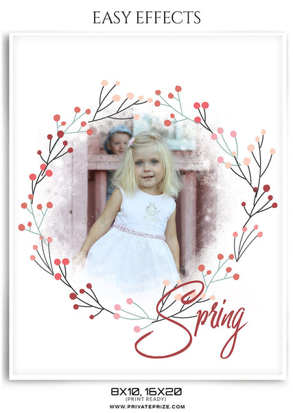 SPRING EASY EFFECTS - Photography Photoshop Template