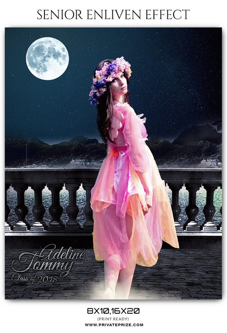 ADELINE TOMMY - SENIOR ENLIVEN EFFECT - Photography Photoshop Template