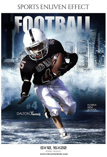 Dalton Thomas - Football Sports Enliven Effects Photography Template - Photography Photoshop Template