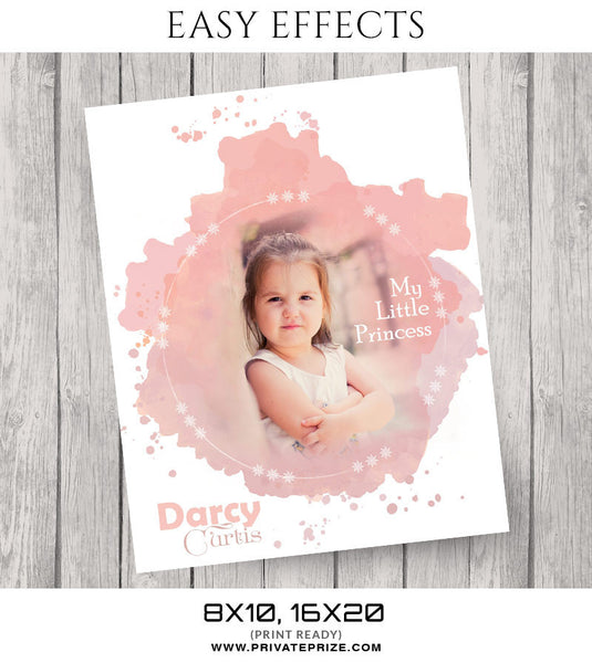 Darcy Curtis Easy Effects- Framed - Photography Photoshop Template