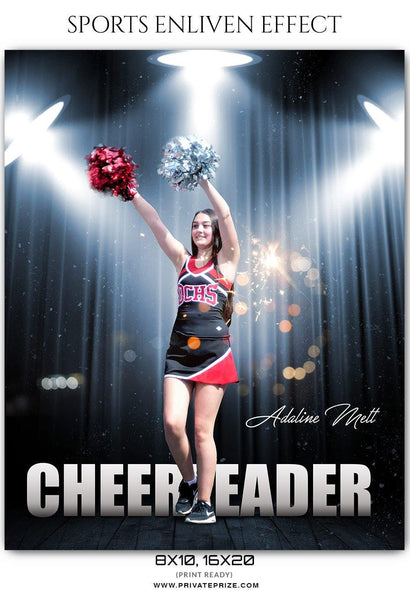 Adaline Mett - Cheerleader Sports Enliven Effect Photoshop Template - Photography Photoshop Template