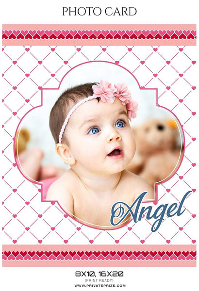 Angel - Photo card - Photography Photoshop Template