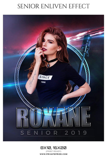 Roxane - Senior Enliven Effect Photography Template