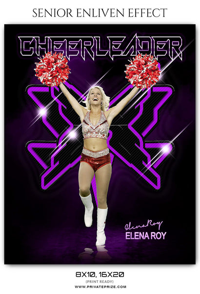 ELENA ROY CHEERLEADER - SPORTS ENLIVEN EFFECT - Photography Photoshop Template