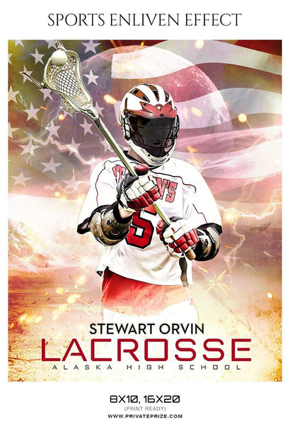 Stewart Orvin - lacrosse Sports Enliven Effects Photography Template