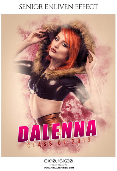 Dalenna - Senior Enliven Effect Photography Template