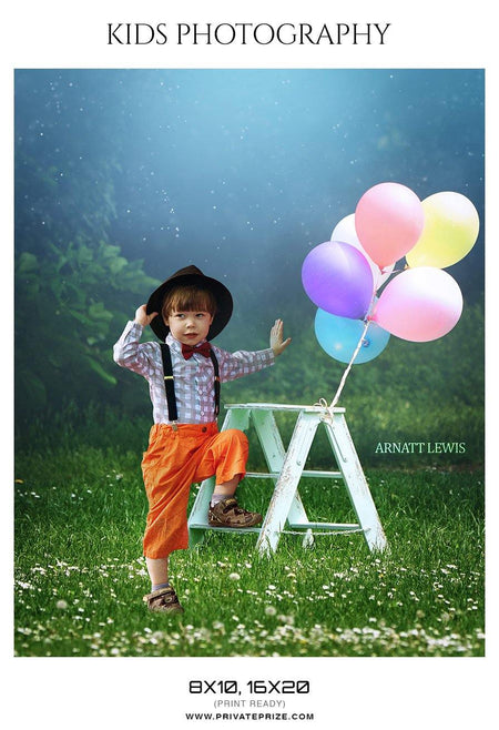 Arnatt Lewis - Kids Photography Photoshop Templates - Photography Photoshop Template