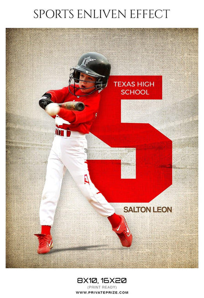 Salton Leon - Baseball Sports Enliven Effect Photography Template