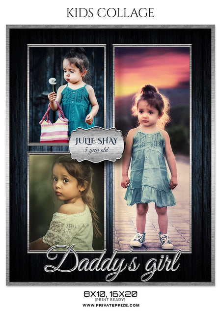 JULIE SHAY - KIDS COLLAGE - Photography Photoshop Template