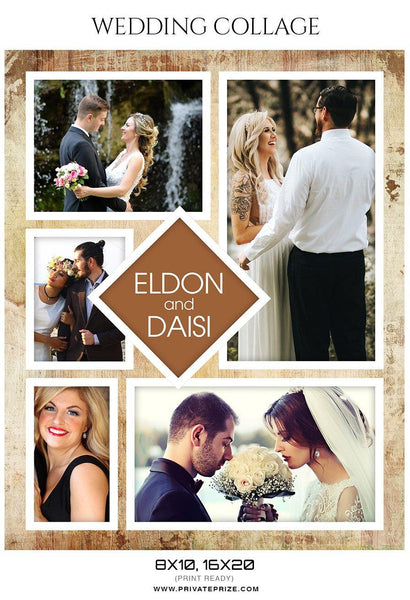 Eldon and Daisi - Wedding Collage - Photography Photoshop Template