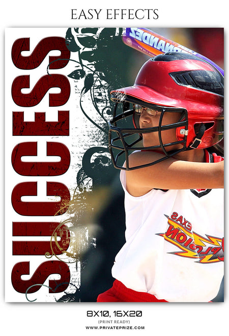 SUCCESS - EASY EFFECTS SPORTS PHOTOGRAPHY - Photography Photoshop Template