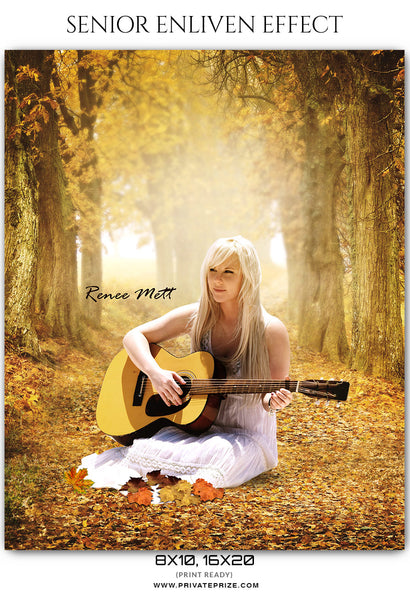 Renee Mett - Senior Enliven Effect  Photoshop Template - Photography Photoshop Template