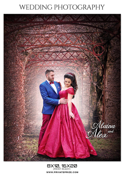 ALAINA AND ALEX -  WEDDING PHOTOGRAPHY - Photography Photoshop Template