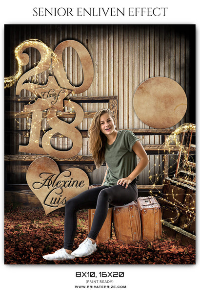 Alexine Luis Senior Enliven Effect Photography Photoshop Template