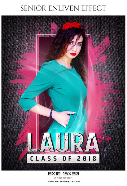 Laura - Senior Enliven Effect Photography Template - Photography Photoshop Template