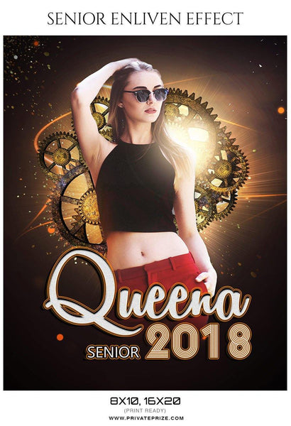 Queena - Senior Enliven Effect Photography Template - Photography Photoshop Template