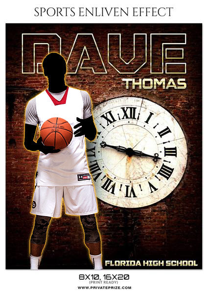 Dave Thomas- Basketball- Sports Photography- Enliven Effects