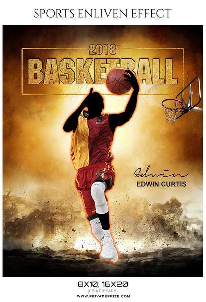 Edwin Curtis - Basketball Sports Enliven Effects Photography Template