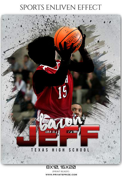 Baron Jeff - Basketball Sports Enliven Effects Photoshop Template