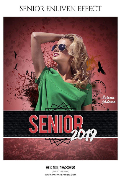 Selena Adams - Senior Enliven Effect Photography Template