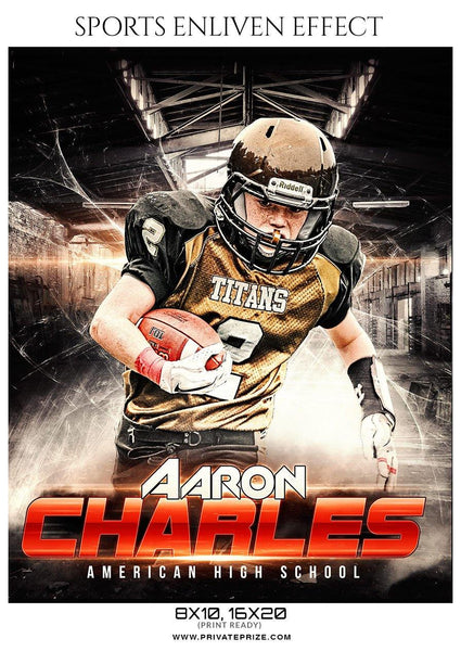 Aaron Charles - Football Sports Enliven Effects Photography Template
