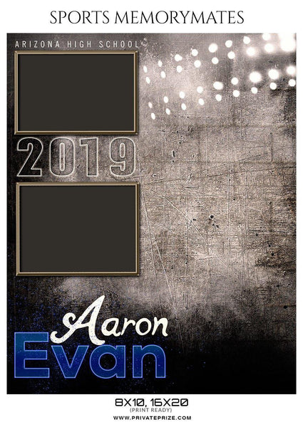 Aaron Evan - Football Memory Mate Photoshop Template