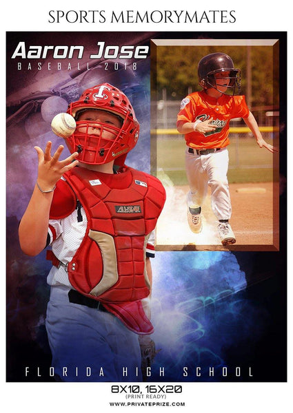 Aaron Jose - Baseball Memory Mate Photography Template - Photography Photoshop Template