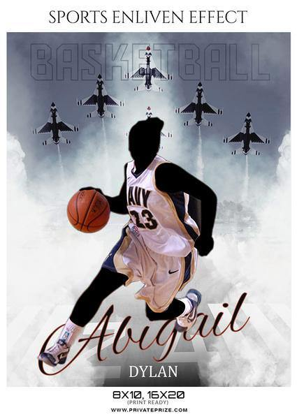 Abigail Dylan - Basketball Sports Enliven Effects Photography Template
