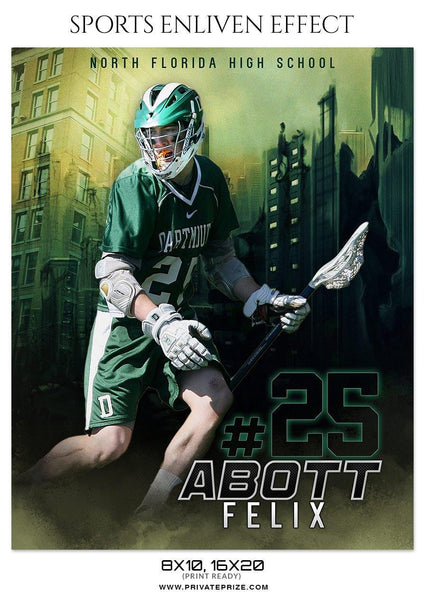 ABOTT FELIX-LACROSSE- SPORTS ENLIVEN EFFECT - Photography Photoshop Template
