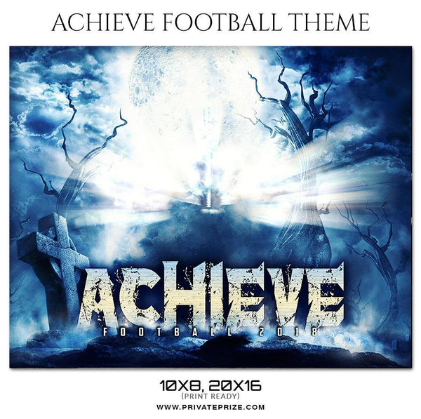 Achieve - Football Themed Sports Photography Template