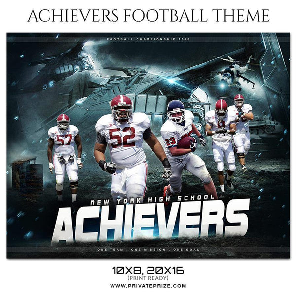 Achievers - Football Themed Sports Photography Template - Photography Photoshop Template