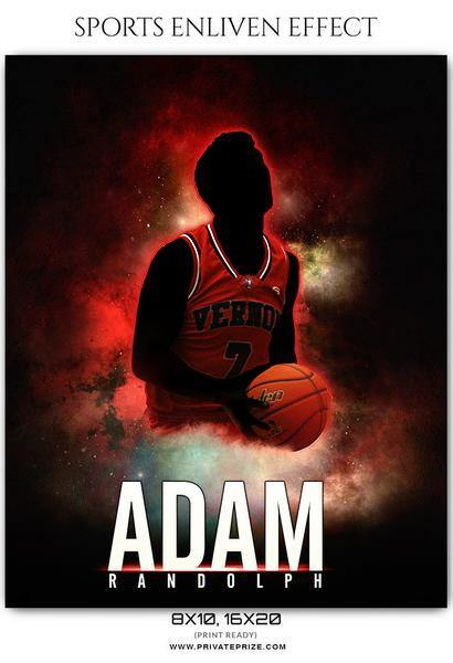 Adam Randolph - Basketball Sports Enliven Effects Photography Template - Photography Photoshop Template